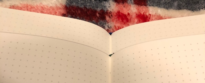 Comparing the dot grid on the Confidant, on top, with the bottom Elemental notebook